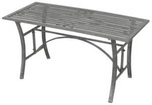 Wrought Iron Patio Coffee Table Bentley Garden Wrought Iron Outdoor Coffee Table Grey