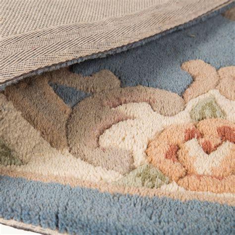 aubusson wool rugs runner 67cm x 210cm wool aubusson in blue
