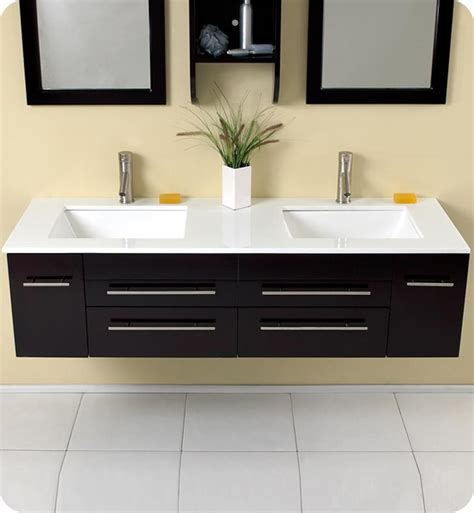 59 Fresca Bellezza Fvn6119uns Espresso Modern Double Modern Bathroom Sink And Vanity