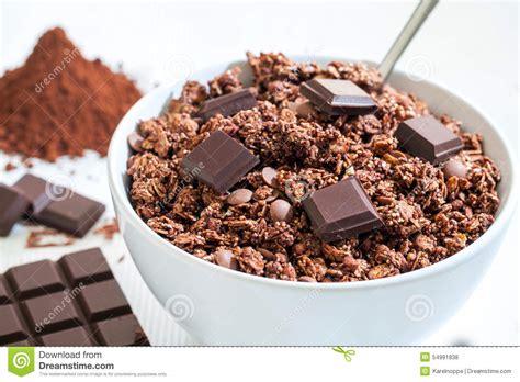 Granolab Muesli Chocolate Besar chocolate muesli stock photo image 54991838