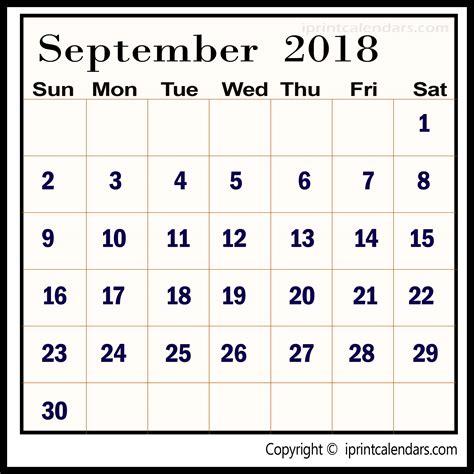 template calendar september 2018 september 2018 calendar template templates tools