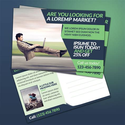 promotional postcard template 5 amazing postcard template with coupon code