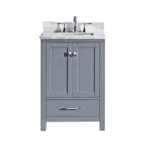 Bak Basin Usa 22 Ba 22 virtu usa caroline avenue 24 in w x 22 in d single vanity in gray with marble vanity top in