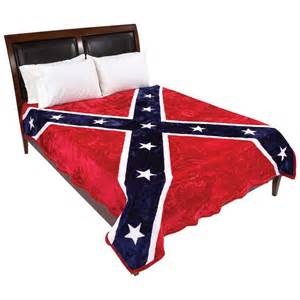 King Size Blanket Bed King Size Plush Thick Confederate Rebel Flag Blanket