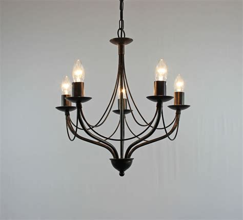 Wrought Iron Candle Chandeliers The Yarwell 5 Arm Wrought Iron Wrought Iron Candle Chandelier Bespoke Lighting Co