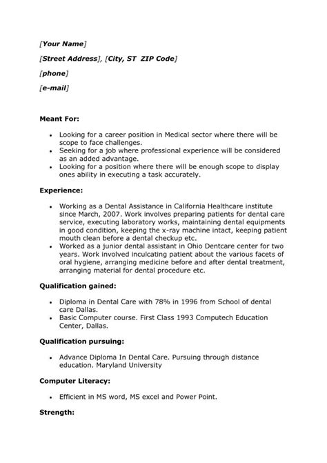 resume format without experience sle college student resume no work experience sle