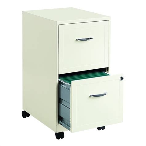 White Filing Cabinet 2 Drawer 2 Drawer Steel File Cabinet In White 19156