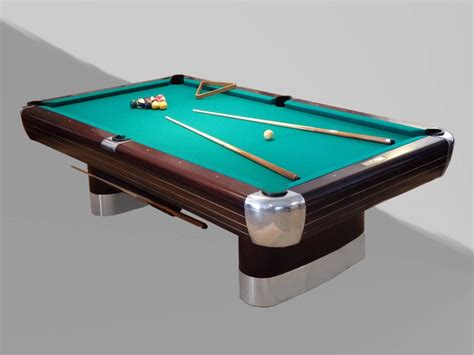 donald deskey brunswick anniversary moderne pool table for