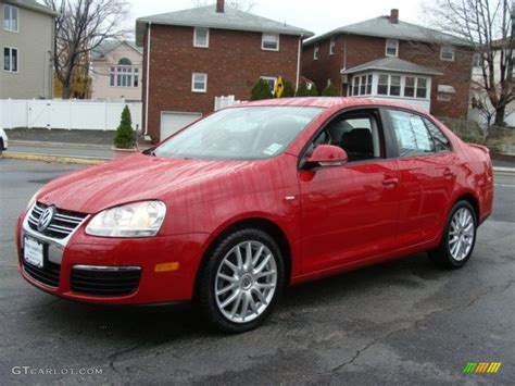 2009 Salsa Red Volkswagen Jetta Wolfsburg Edition Sedan