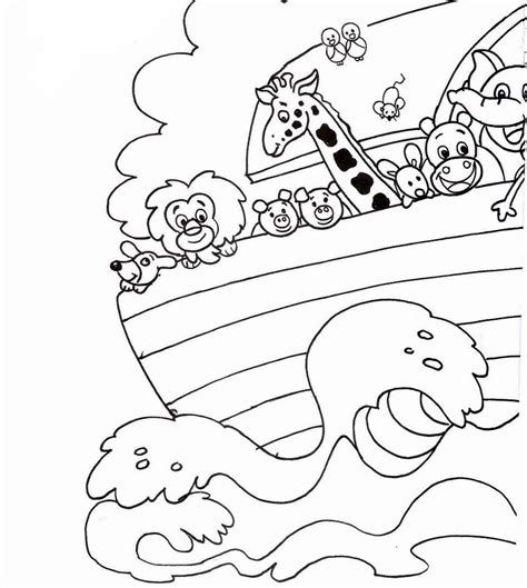 Bible Coloring Pages For Noah by The Story Of Noah Coloring Pages