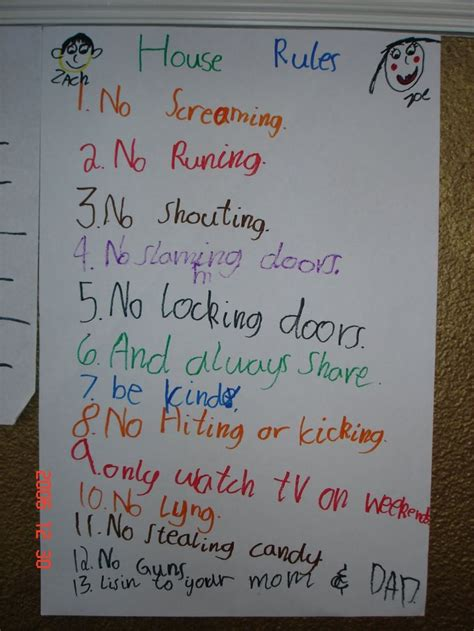 supernanny house rules template gallery templates design