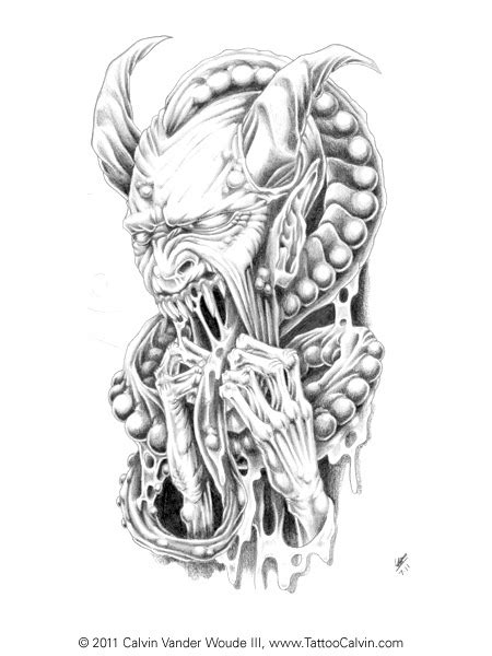 demon dragon tattoo designs horned drawings pencil photo and drawings