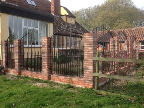 garden wall railings metal gates and railings suffolk metalwork barking
