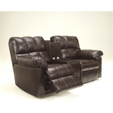 ashley double recliner ashley furniture kennard double leather reclining loveseat