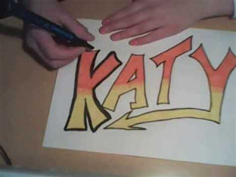 imagenes que digan katy how to draw graffiti name katy in graffiti name youtube