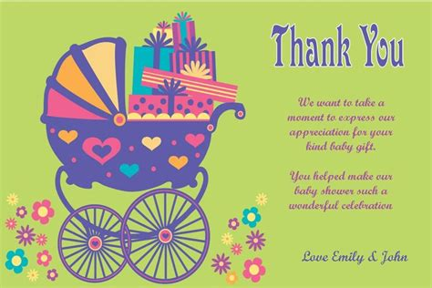 thank you letter gift card sle thank you letter for baby shower gift card gift ftempo