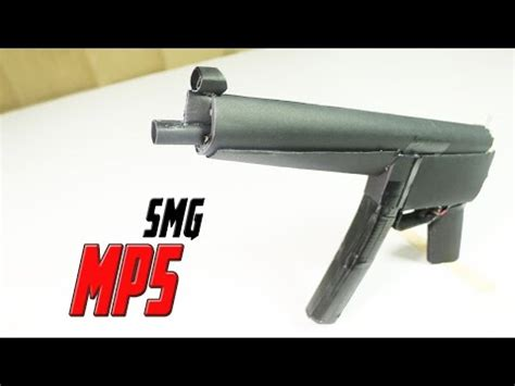 How To Make A Paper Mp5 - blow back rubber band gun 06 0 mac10 s m g ejection