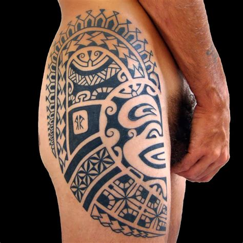 cute tattoos for men tattoos on thigh 3d design idea