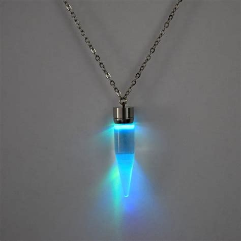 light necklaces light up glow pendant necklace eternity led