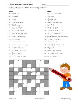 Math Puzzle Fun Order Ops Equations By Steve Hiner Tpt