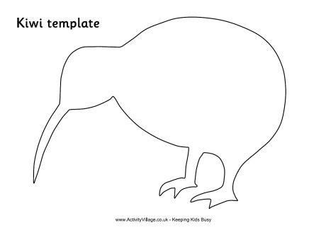 pattern tracing paper nz kiwi template 2