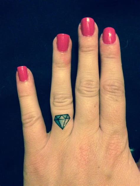 diamond finger tattoo bachelorette temporary ring finger