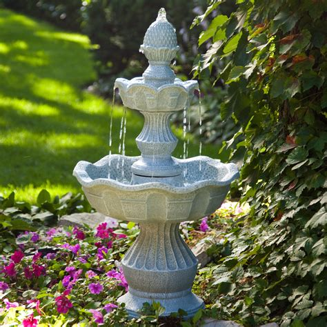patio fountains welcome garden pineapple tiered outdoor