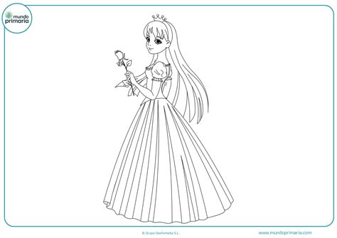 imagenes de rosas para una princesa dibujos de princesas para colorear mundo primaria