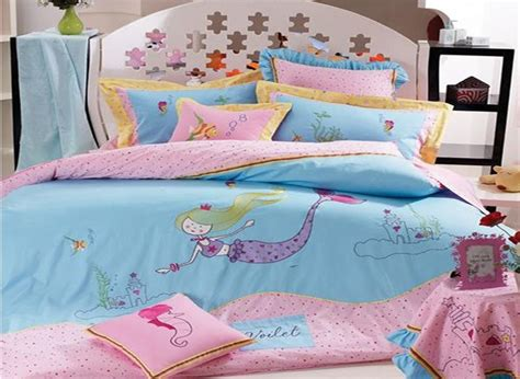 mermaid bedding twin active printing sea world mermaid 100 cotton kids bed