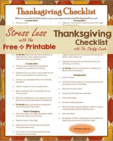 thanksgiving dinner check list 5 best images of thanksgiving checklist printables