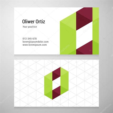 Origami Company - modern letter o origami business card template stock