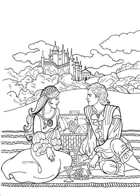 romantic coloring pages for adults omalov 225 nky princezna a princ romanticka snidane k