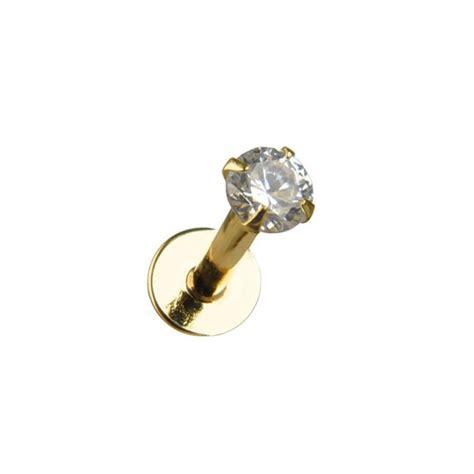 white gold lip ring white gold
