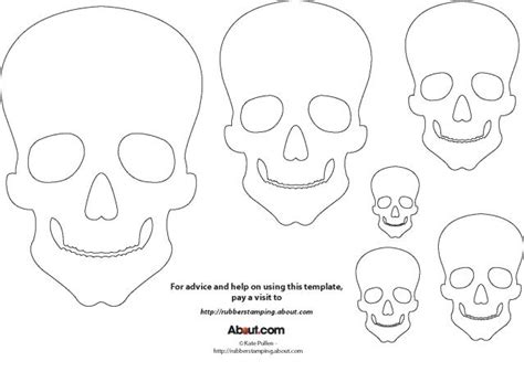 skull template skull template for craft projects
