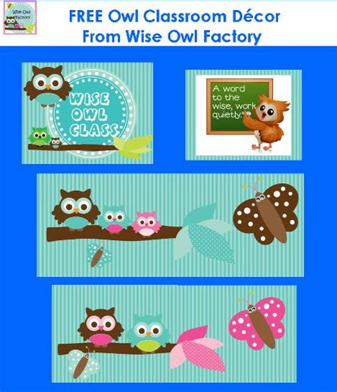 printable owl classroom decorations free owl classroom theme printable for bulletin boards