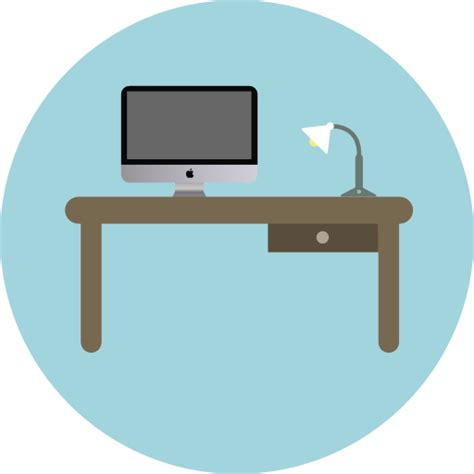 office desk icon desk free furniture and household icons
