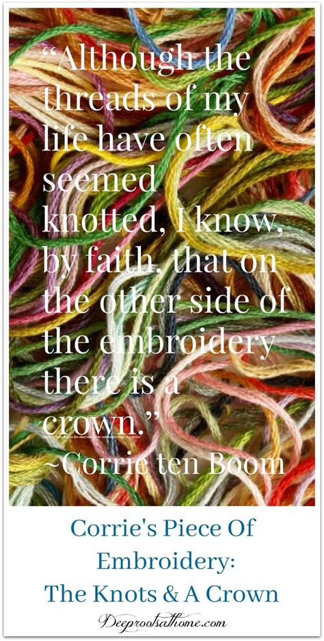 corrie ten booms piece  embroidery knots  crown