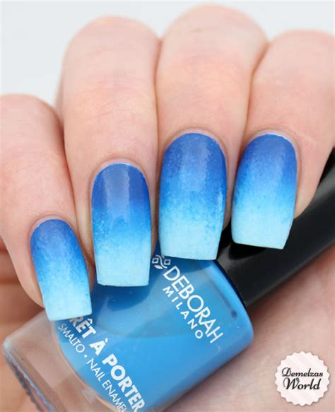 tutorial nail art gradient video tutorial blue gradient for deborah milano demelza