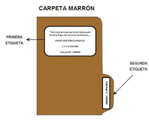 Etiquetas Para Carpetas Cadivi | c 243 mo armar las carpetas de cadivi