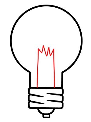 drawing a light bulb