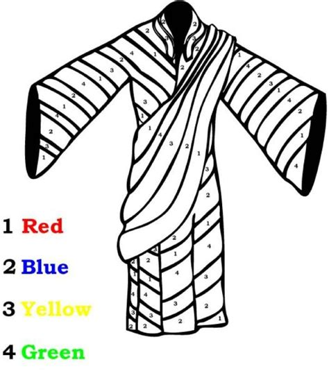 Free Coloring Pages Of Joseph With Coat Of Many Colors Joseph Coat Of Many Colors Coloring Page