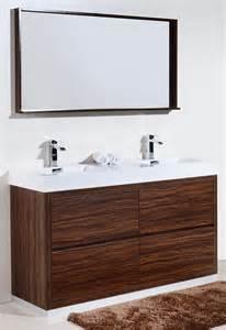 Walnut Bathroom Vanities Bliss 60 Quot Floor Moun Sink Walnut Modern Bathroom Vanity