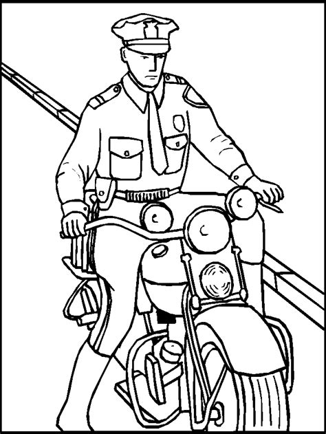 Printable Police Coloring Pages Coloring Home Coloring Pages Of Officers