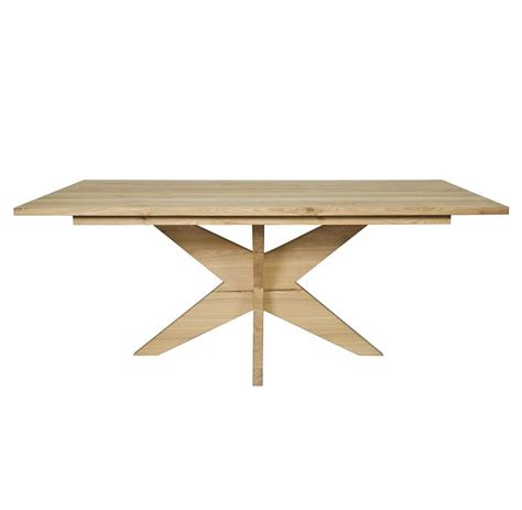 X Leg Dining Table Colton Industrial Loft X Leg Elm Dining Table Kathy Kuo Home