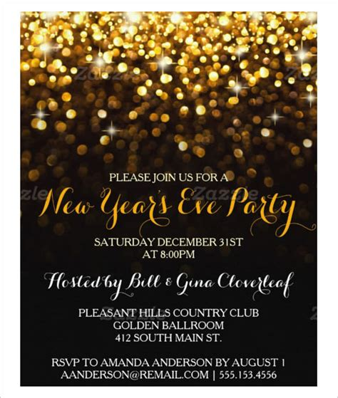 New Year Invitation Card Template Free by 28 New Year Invitation Templates Free Word Pdf Psd