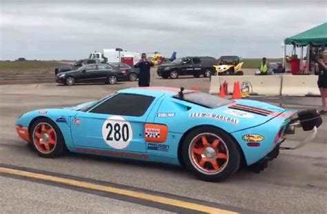 fastest ford gt 2006 ford gt does world s fastest standing mile 95 octane