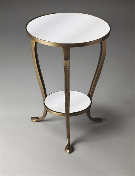 Mirrored Accent Table Butler Specialty Co Metalworks Golden Mirrored Accent Table Stage Stores