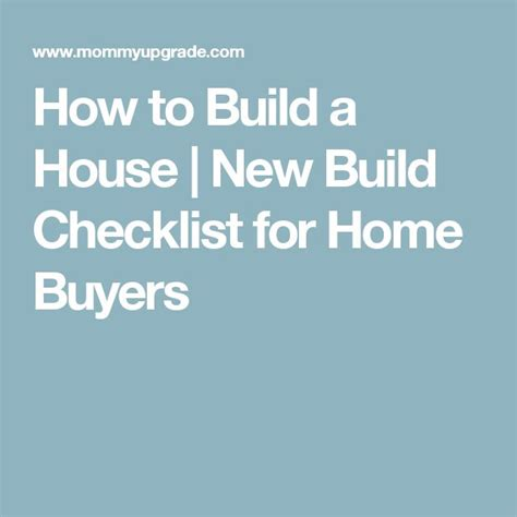 Building New House Checklist 17 best ideas about new house checklist on pinterest
