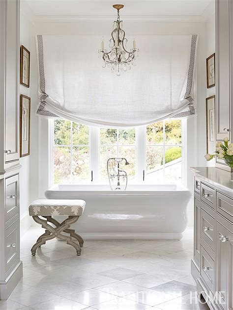 Gray Bathroom Window Treatments Home With Casual Elegance Traditional Home