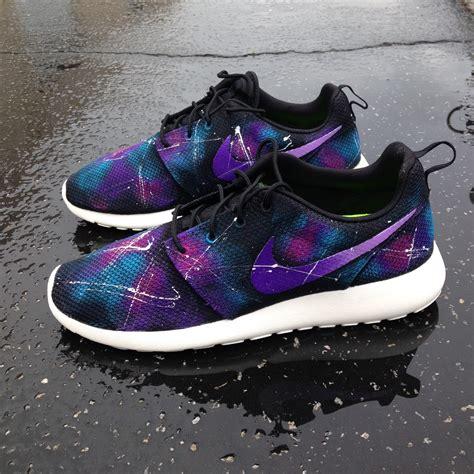 customize roshe run shoes custom galaxy nike roshe runs by sneakerkraft on etsy